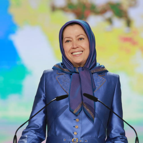 Maryam Rajavi, Iranian opposition leader at the grand annual gathering in Paris _42