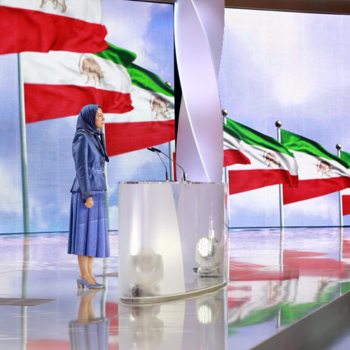 Maryam Rajavi, Iranian opposition leader at the grand annual gathering in Paris _34