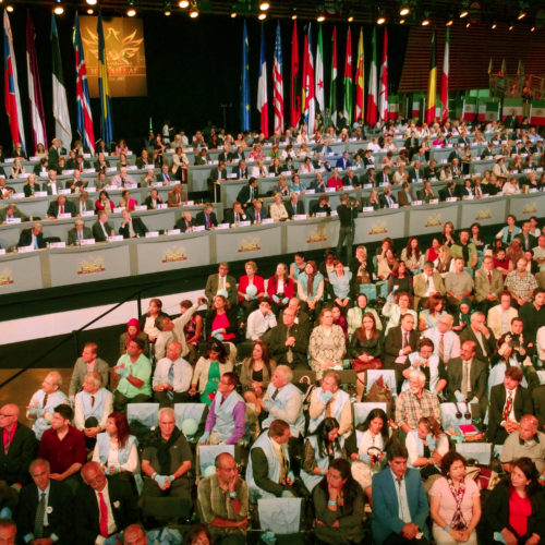 Dignitaries and audience while Maryam Rajavi, Iranian opposition leader, addressing grand annual gathering in Paris _70