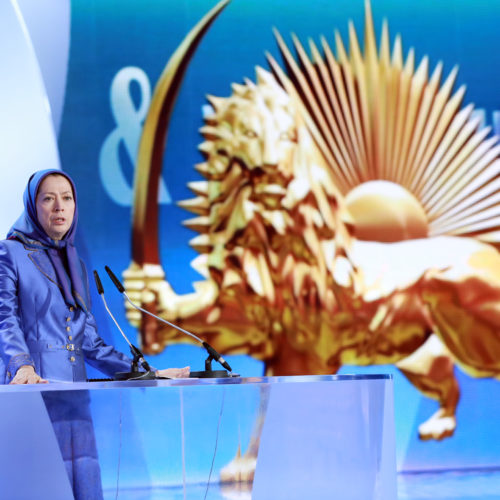 Maryam Rajavi, Iranian opposition leader at the grand annual gathering in Paris _76