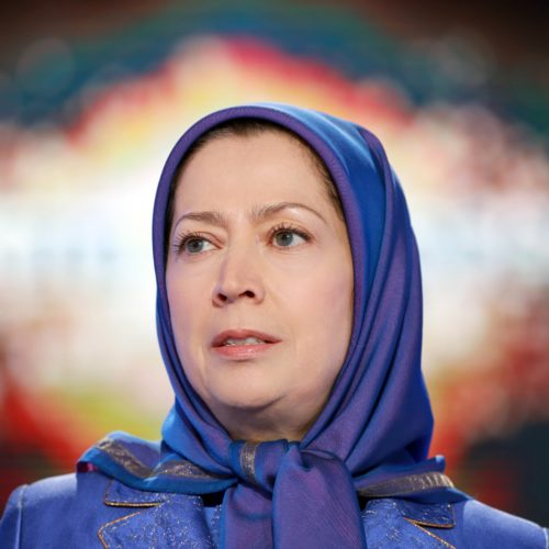 Maryam Rajavi, Iranian opposition leader at the grand annual gathering in Paris _61