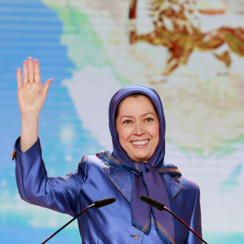 Maryam Rajavi, Iranian opposition leader at the grand annual gathering in Paris _38