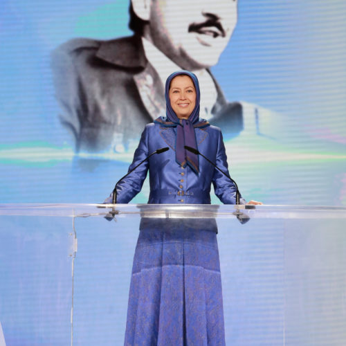 Maryam Rajavi, Iranian opposition leader at the grand annual gathering in Paris _40