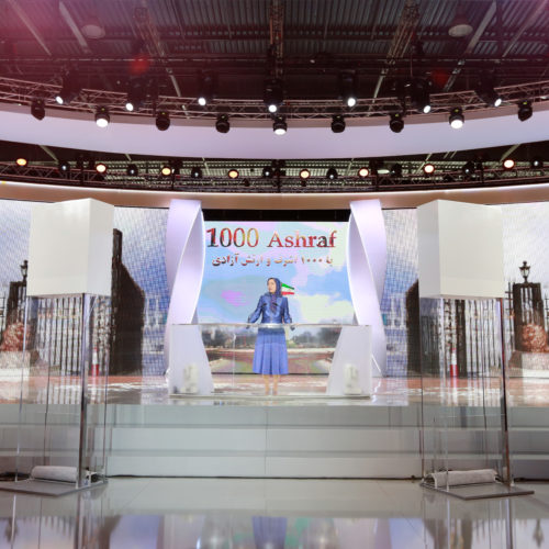 Maryam Rajavi, Iranian opposition leader at the grand annual gathering in Paris _51
