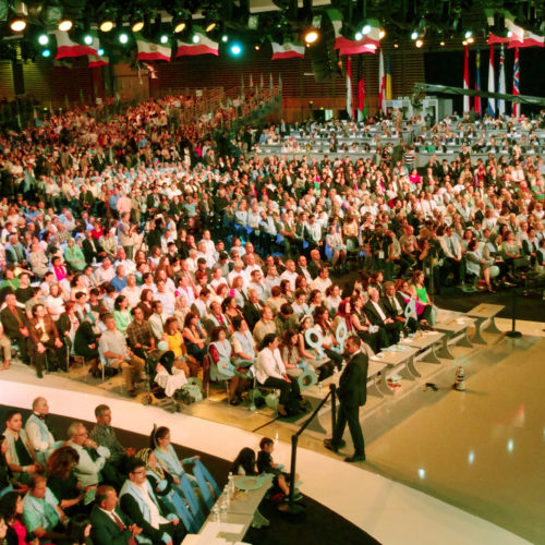 Audience while Maryam Rajavi, Iranian opposition leader, addressing grand annual gathering in Paris _66