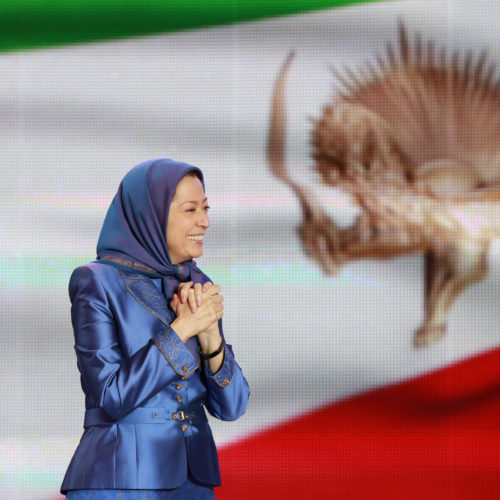 Maryam Rajavi, Iranian opposition leader at the grand annual gathering in Paris _36
