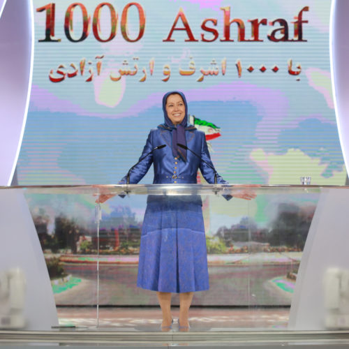 Maryam Rajavi, Iranian opposition leader at the grand annual gathering in Paris _41