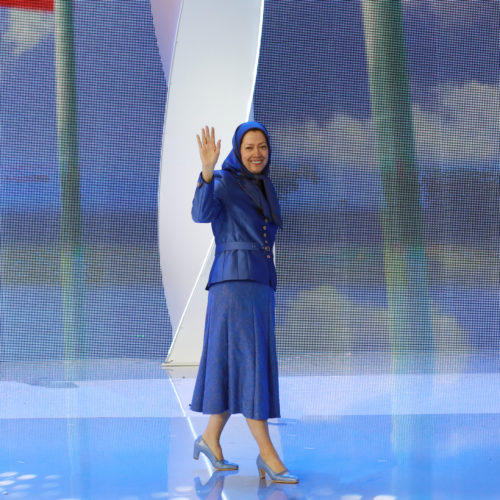 Maryam Rajavi, Iranian opposition leader at the grand annual gathering in Paris _44