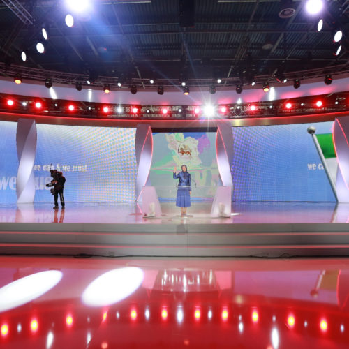 Maryam Rajavi, Iranian opposition leader at the grand annual gathering in Paris _50