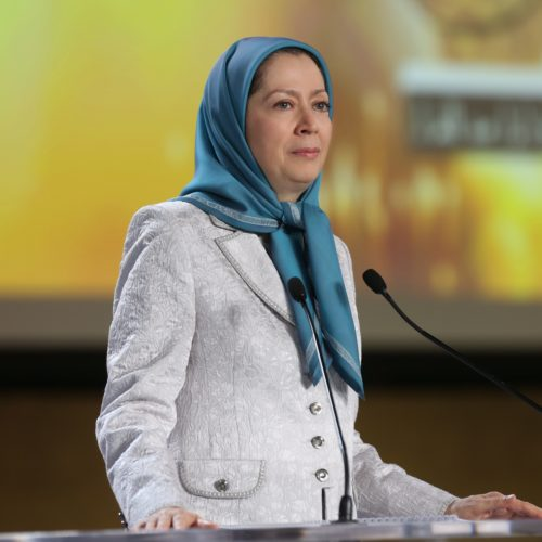 Maryam Rajavi Iran's opposition Leader addresses dignitaries from Arab and Islamic countries and representatives of Muslim communities in France in a major Ramadan conference in Paris on 3 July 2015 -13