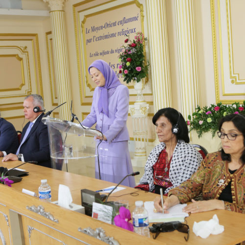 Maryam Rajavi Iranian Opposition Leader in Conference on Middle East- June 14, 2015 - 2