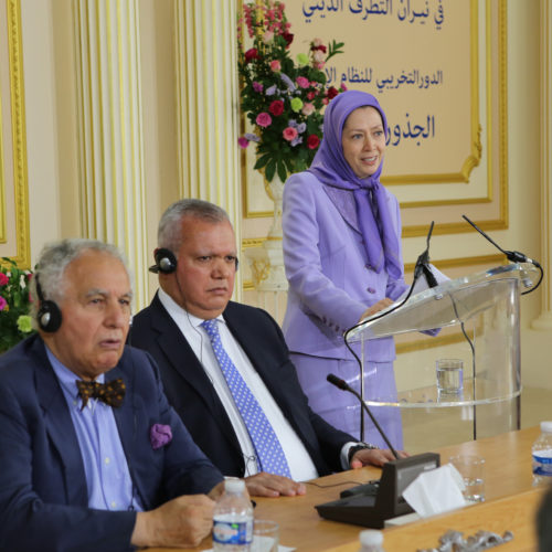 Maryam Rajavi Iranian Opposition Leader in Conference on Middle East- June 14, 2015 - 3