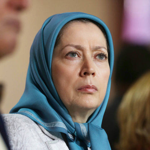 Maryam Rajavi Iran's opposition Leader addresses dignitaries from Arab and Islamic countries and representatives of Muslim communities in France in a major Ramadan conference in Paris on 3 July 2015 -12