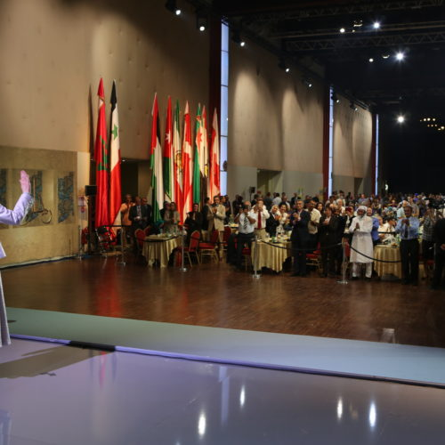 Maryam Rajavi Iran's opposition Leader addresses dignitaries from Arab and Islamic countries and representatives of Muslim communities in France in a major Ramadan conference in Paris on 3 July 2015 -5