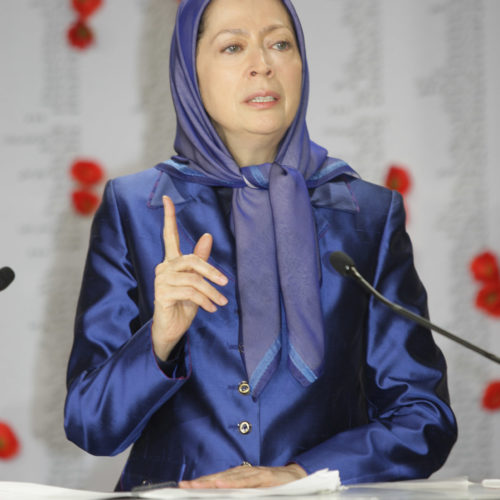 MaryamRajavi-Commemoration of martyrs of 29 Oct attack on Camp Liberty - 1 November 2015