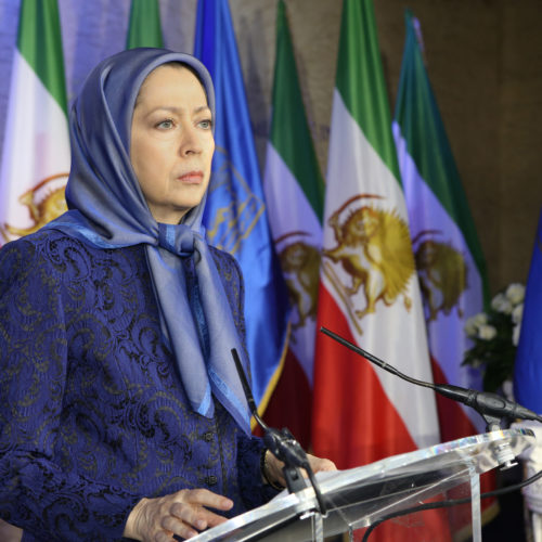 Maryam Rajavi pays tribute to a deceased member of the NCRI and four senior women affiliates of the PMOI, Auvers sur Oise December 6, 2015