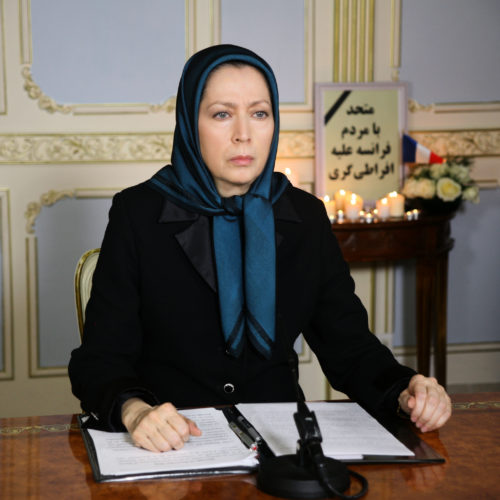 Maryam Rajavi's message condemning terrorist attacks in Paris- November 14, 2015