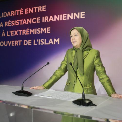 حضور و سخنرانی مریم رجوی در گردهمایی شهرداران و منتخبان فرانسه در همبستگی با مقاومت ایران در اورسوراواز ۴ بهمن ۱۳۹۴