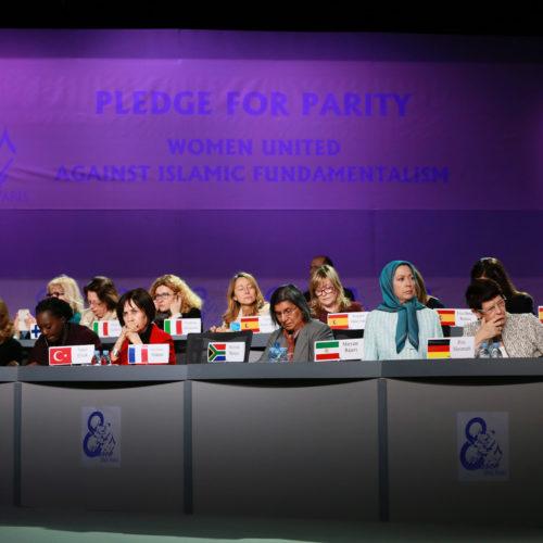 سخنرانی مریم رجوی – زنان متحد علیه بنیادگرایی – ۸ اسفند ۱۳۹۴