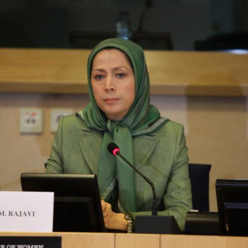 سخنرانی مریم رجوی در کنفرانس «نقش زنان در جنگ علیه افراطیگری» در پارلمان اروپا-۱۲ اسفند ۱۳۹۴