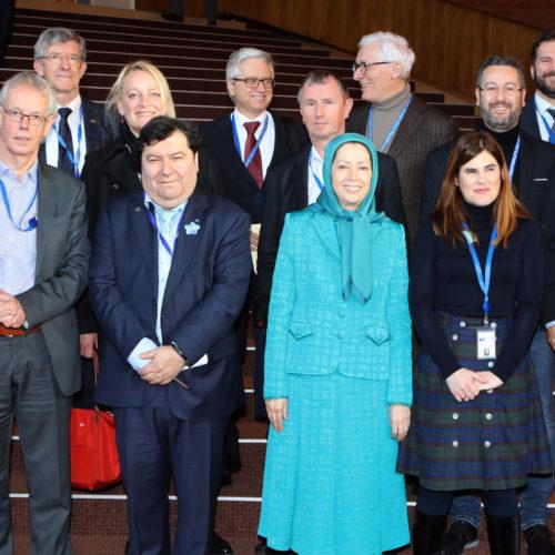 حضور مریم رجوی در شورای اروپا- استراسبورگ- ۴ بهمن ۱۳۹۶