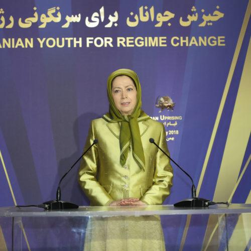 سخنرانی مریم رجوی در جمعی از جوانان بهمناسبت سالگرد انقلاب ضد سلطنتی -۲۱ بهمن ۱۳۹۶