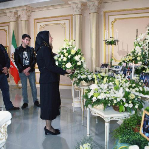 مراسم بزرگداشت ویکتور گلوتا، از حامیان مقاومت در اورسوراواز