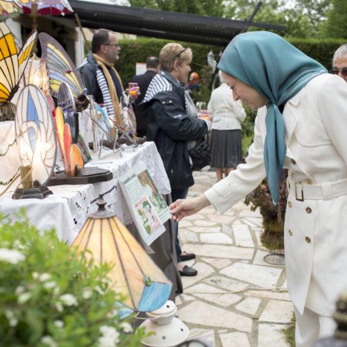 مريم رجوی در جشن گلها در اور-سور- اواز – ۱۵خرداد ۱۳۹۵