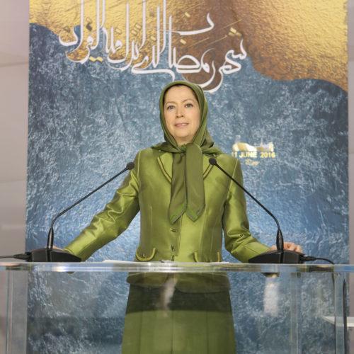 مریم رجوی در اجلاس همبستگی با انقلاب سوریه بهمناسبت ماه رمضان -۲۲ خرداد ۱۳۹۵