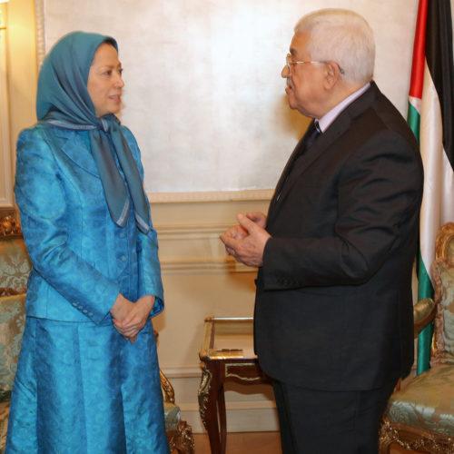 ملاقات مريم رجوی با پرزيدنت محمود عباس -۹ مرداد۱۳۹۵