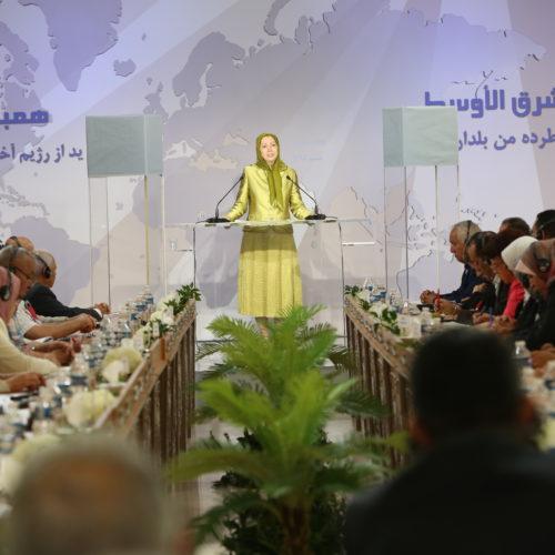 مریم رجوی در جلسه همبستگی خلقهای خاورمیانه-۲۰تیر ۱۳۹۵