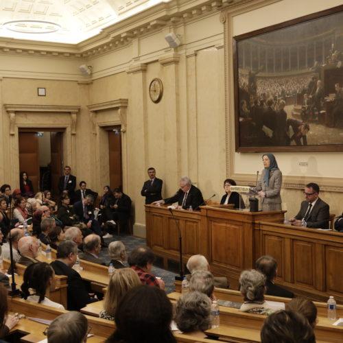 کنفرانس در مجلس ملی فرانسه سخنرانی مریم رجوی – ۲ اسفند ۱۳۹۷