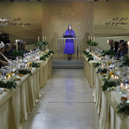 مریم رجوی در جلسه همبستگی ادیان علیه افراطیگری -۱۳خرداد ۱۳۹۶