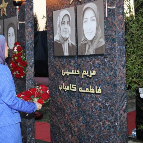 مریم رجوی در گرامیداشت شهیدان قتل عام اشرف در ۱۰شهریور ۱۳۹۲