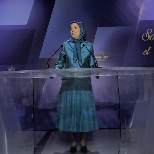 مریم رجوی در مراسم سال نو همراه با شهرداران و منتخبین و حامیان مقاومت ایران در فرانسه – ۲۳ دی ۹۷