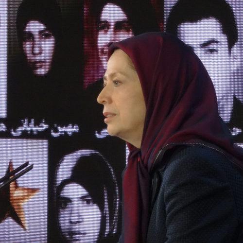 مریم رجوی در مراسم گرامیداشت شهیدان ۱۲ و ۱۹ اردیبهشت ۶۱