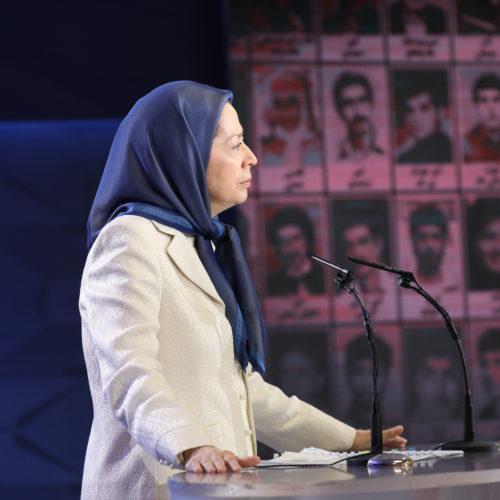 مریم رجوی در کنفرانس دادخواهی قتل عام ۶۷ در اشرف ۳- ۲۴تیر ۱۳۹۸