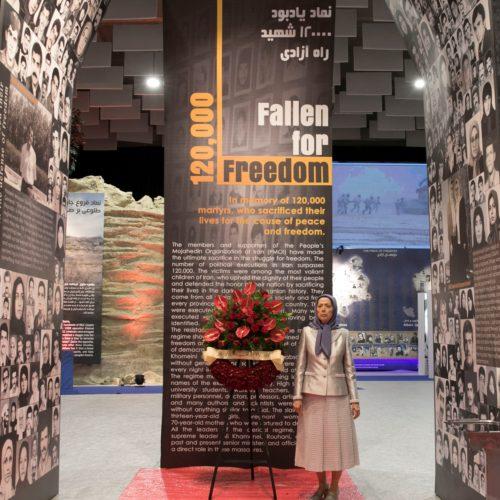 مریم رجوی در نمایشگاه ۱۲۰سال مبارزه مردم ایران برای آزادی- ۲۱تیر۱۳۹۸