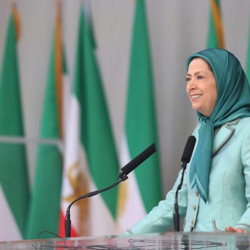 مریم رجوی در جشن سالگرد تاسیس سازمان مجاهدین در اشرف ۳- شهریور ۱۳۹۸