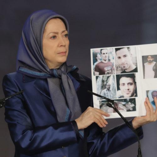 مریم رجوی در مراسم بزرگداشت شهیدان قیام ایران- آذر۱۳۹۸