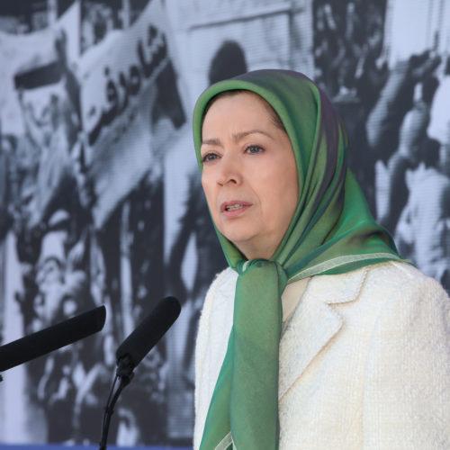گردهمایی بهمناسبت سالگرد انقلاب ضدسلطنتی با حضور مریم رجوی در اشرف۳- ۲۲بهمن ۱۳۹۸