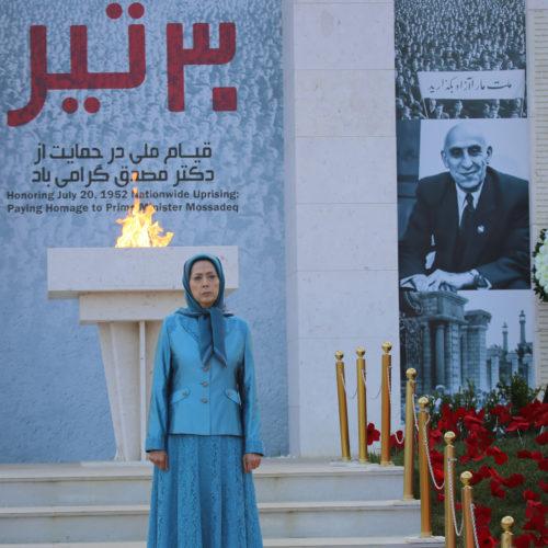 مریم رجوی در گردهمایی بزرگ ایران آزاد در اشرف۳ – ۲۷تیر۱۳۹۹