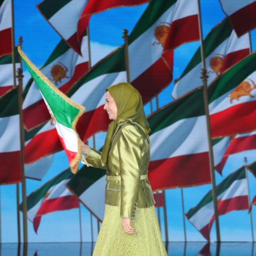 مریم رجوی در سومین اجلاس جهانی ایران آزاد - کنفرانسی با عنوان «تروریسم رژیم ایران- سفارتهای رژیم را ببندید و مأموران و مزدورانش را اخراج کنید» - اشرف۳- ۳۰تیر۱۳۹۹