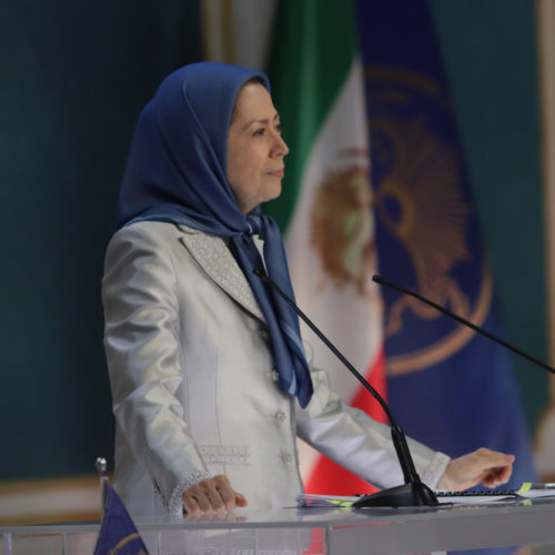 مریم رجوی در اجلاس سه روزه شورای ملی مقاومت ایران- مرداد ۱۳۹۹