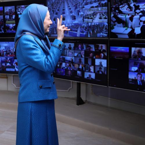مریم رجوی در کنفرانس جهانی همزمان با محکومیت دیپلمات تروریست رژیم آخوندی در یک دادگاه اروپایی