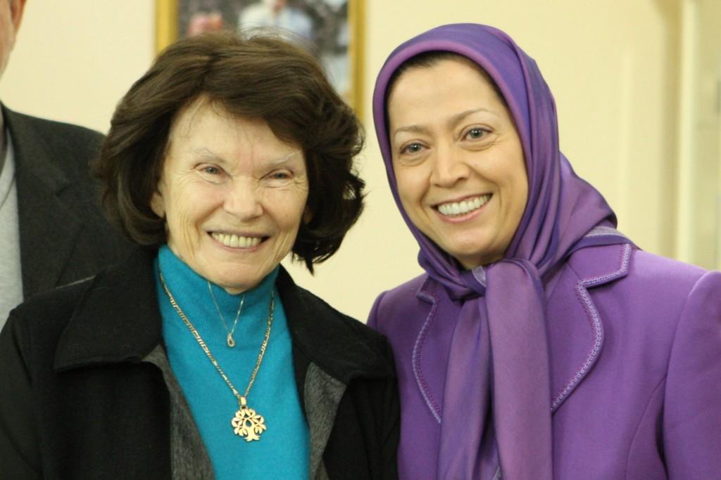سخنان مریم رجوی در دیدار خانم میتران از اورسورواز