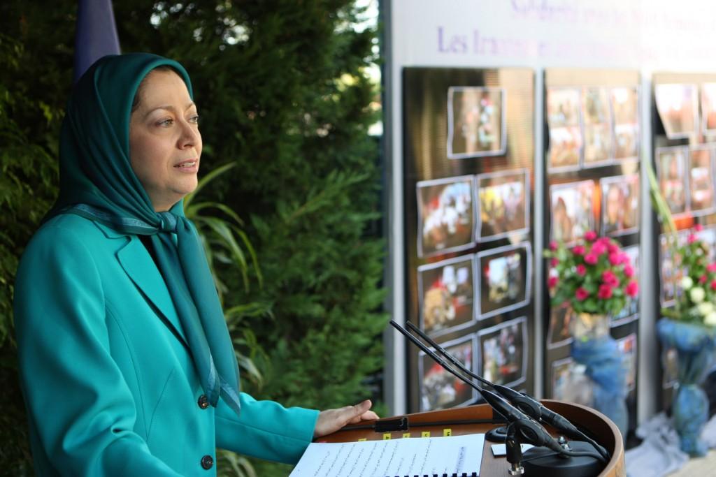جلسه همبستگی با ۱۰۰۰زن قهرمان در اشرف و زنان بپاخاسته ایران