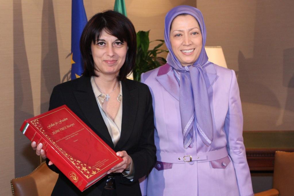 ملاقات نائب رئیس پارلمان اروپا از ایتالیا با مریم رجوی