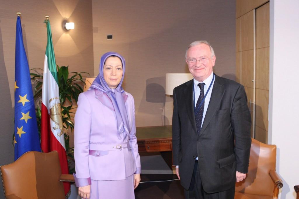 ملاقات رئیس کمیسیون مناطق اتحادیه اروپا با مریم رجوی