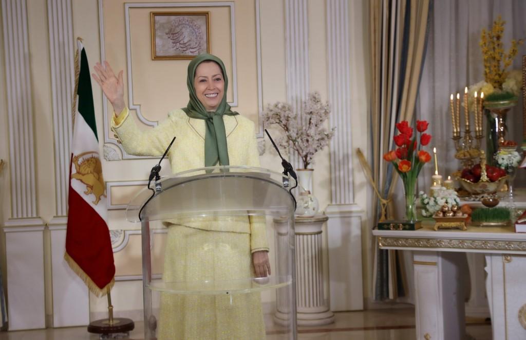مراسم نوروز و تحویل سال نو ۱۴۰۰ با سخنرانی خانم مریم رجوی- اورسوراواز